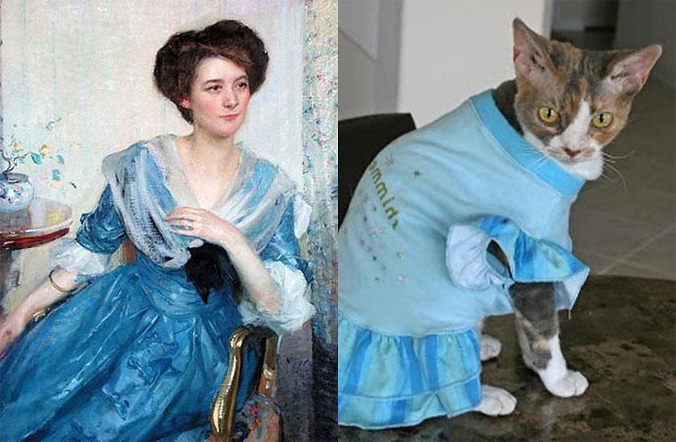 Woman In Blue Dress_Richard Edward Miller