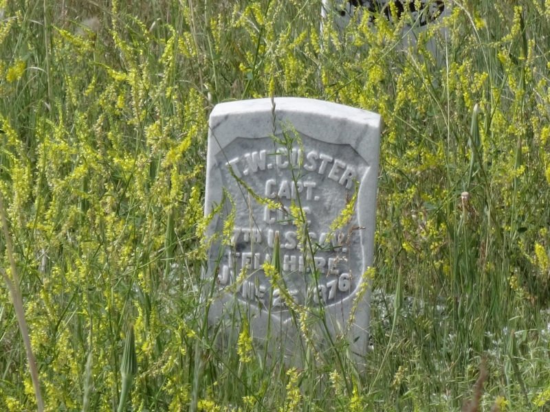 Tombstone of George Custer's brother