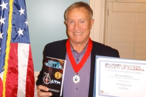 Dennis Koller receives Silver Medal from Military Writers Society of America for The Oath